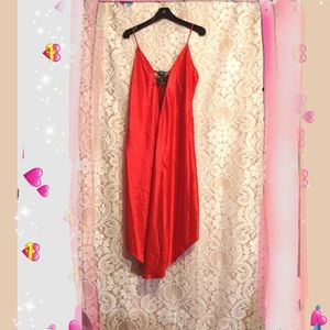 Red silky Chemises🎋size XL